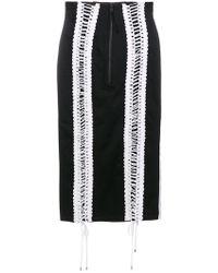KTZ - Lace-up Skirt - Lyst