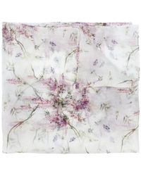 Ermanno Scervino - Abstract Floral Print Scarf - Lyst