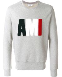 AMI - Terrycloth Ami Logo Sweatshirt - Lyst