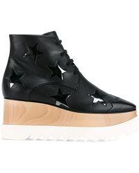 Stella McCartney - Elyse Star Leather Platform Shoes - Lyst