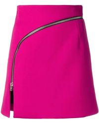 Alexander Wang - Mini Zipped Skirt - Lyst
