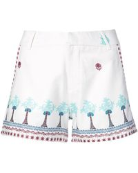 Le Sirenuse - Embroidered Trim Shorts - Lyst