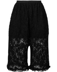 MM6 by Maison Martin Margiela - Floral Lace Shorts - Lyst