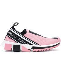 Dolce & Gabbana - Logo Sock Trainers - Lyst