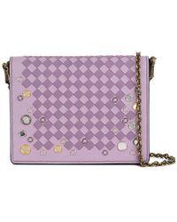 Bottega Veneta - Parme Lilac Intrecciato Palio Chain Wallet - Lyst