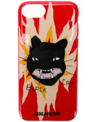 Zadig & Voltaire - Iphone 6/7(s) Black Cat Cover - Lyst