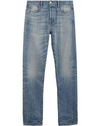 Burberry - Relaxed Fit Washed Japanese Selvedge Denim Jeans - Lyst