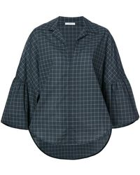 TOME | Bell Sleeved Check Shirt | Lyst