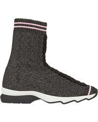 Fendi - Fabric Trainer Boots - Lyst