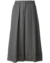 Jil Sander Navy - Wide Leg Cropped Trousers - Lyst