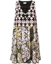 Giamba   Printed V-neck Dress   Lyst