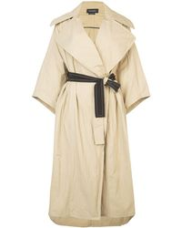 Yigal Azrouël Oversized Trench Coat - Natural