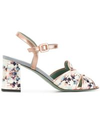 Paola D'arcano - Floral Print Sandals - Lyst