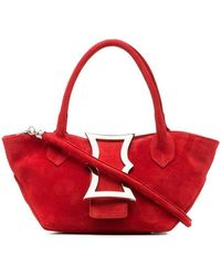 Dorateymur - Red Mini Lament Suede Leather Tote Bag - Lyst
