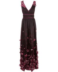 Marchesa notte - Floral Embellished Gown - Lyst