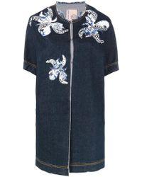 Antonio Marras - Floral Motif Patches Denim Jacket - Lyst