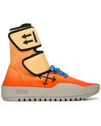 Off-White c/o Virgil Abloh - Orange Wb Moto Wrap Sneakers - Lyst