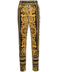 Versace - High Waist Patterned Skinny Jeans - Lyst