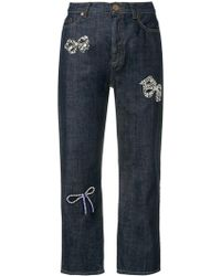 Weekend by Maxmara - Bow Cropped Jeans - Lyst