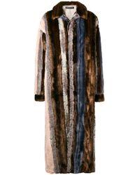 Y. Project - Oversized Faux Fur Panelled Coat - Lyst