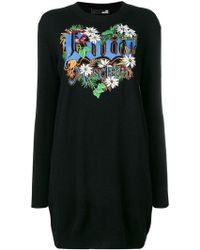 Love Moschino - Love Patchwork Loose Dress - Lyst