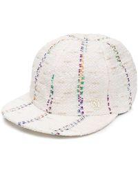 Maison Michel - Hailey Striped Tweed Baseball Cap - Lyst