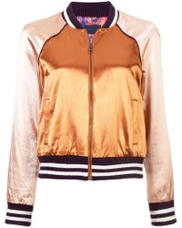 Mother - Colour Block Bomber Jacket - Lyst