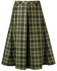 Ultrachic - Tartan Pleated Midi Skirt - Lyst