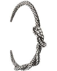 Eleventy - Embossed Snake Cuff - Lyst