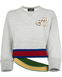 DSquared² - Sweatshirt With Double Waistband - Lyst