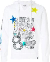 Converse - Graffiti And Star Print Hoody - Lyst