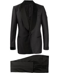 Tom Ford - Exposed Stitching Silk Embellished Suit - Lyst