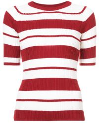Jason Wu - Striped Knitted Top - Lyst