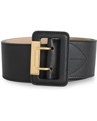 Burberry - Double Pin Buckle Leather Belt - Lyst