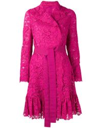 Dolce & Gabbana - Belted Lace Coat - Lyst