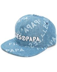Filles A Papa - Logo Denim Cap - Lyst