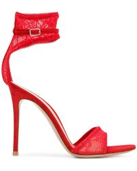 Gianvito Rossi - Lace Sandals - Lyst