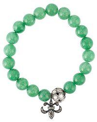 Gemco - Bead Diamond Charm Bracelet - Lyst