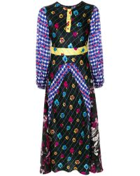 Duro Olowu - Patterned Long Sleeved Dress - Lyst