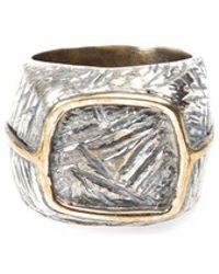 Tobias Wistisen - Eckiger Ring aus Bronze und Silber - Lyst