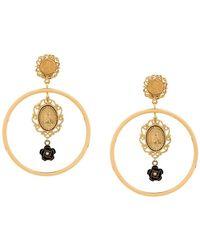 1265ad8f4def Dolce   Gabbana - Pendientes con medallón Madonna - Lyst