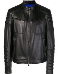 BOSS - Zipped Biker Jacket - Lyst