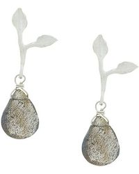 Wouters & Hendrix - My Favourite Drop Labradorite Leaf Earrings - Lyst