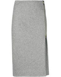 Peserico - Side Pleat Midi Skirt - Lyst