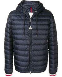 98c41b3be14e Lyst - Moncler Short Puffer Jacket in Blue for Men