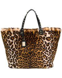 a172db7d916e Lyst - Dolce   Gabbana Leopard Print Tote Bag in Green