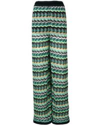 M Missoni - Zig-zag Knit Trousers - Lyst