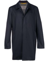 Canali - Concealed Fastening Midi Coat - Lyst