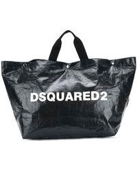 DSquared² - Logo Printed Tote Bag Large - Lyst