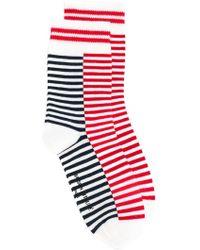 Maison Kitsuné | Striped Socks | Lyst